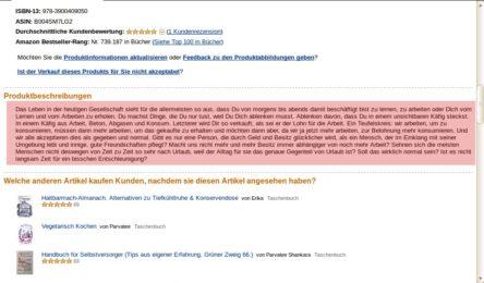 Amazon verwendet unerlaubt unseren Text 1