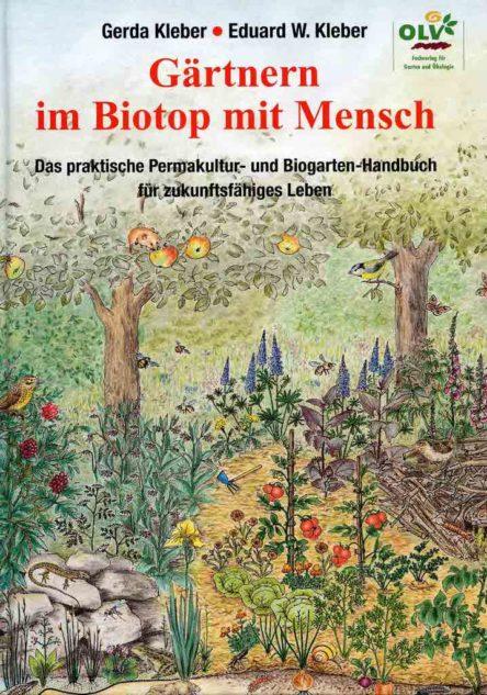 """Buchcover des Buches """"Gärtnern im Biotop mit Mensch"""""""