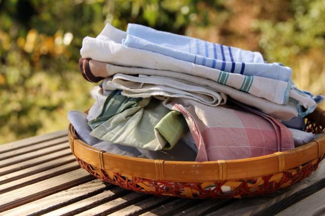 Foto von Stofftaschentüchern