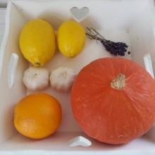 Foto einer sehr aufgeräumten Gemüse-Box