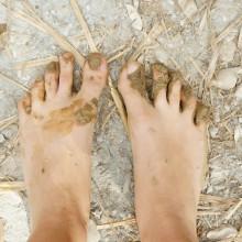 Foto von matschigen Füßen