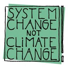 Logo der Kampagne System Change, not Climate Change!