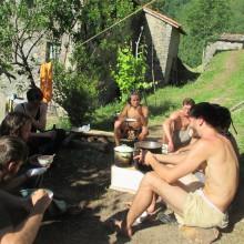 Foto der Pionier-Gruppe beim Pause-machen