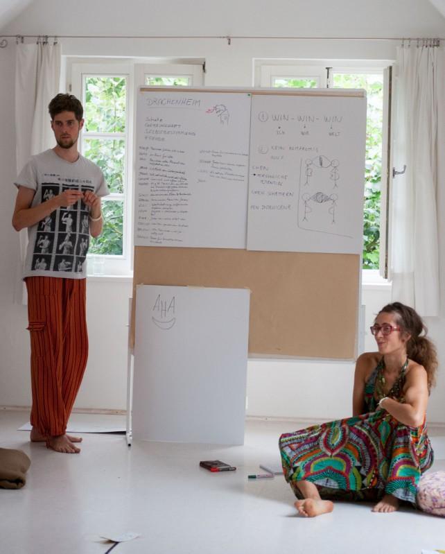Daniel und Raquel beim Workshop