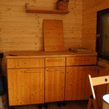 Küche im Bauwagen.