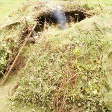 Wildnisshelter von außen fotografiert.