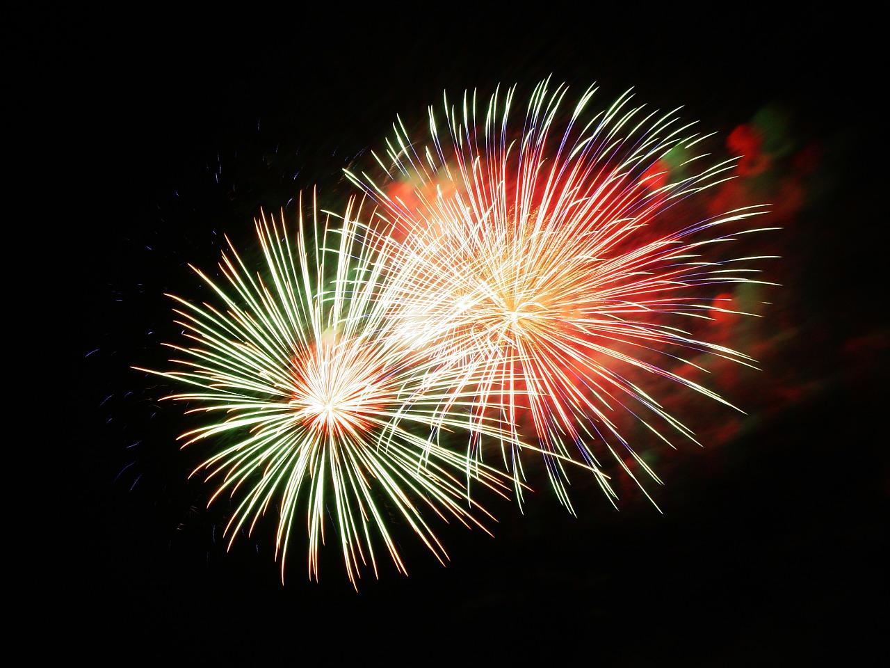 Foto eines Feuerwerks