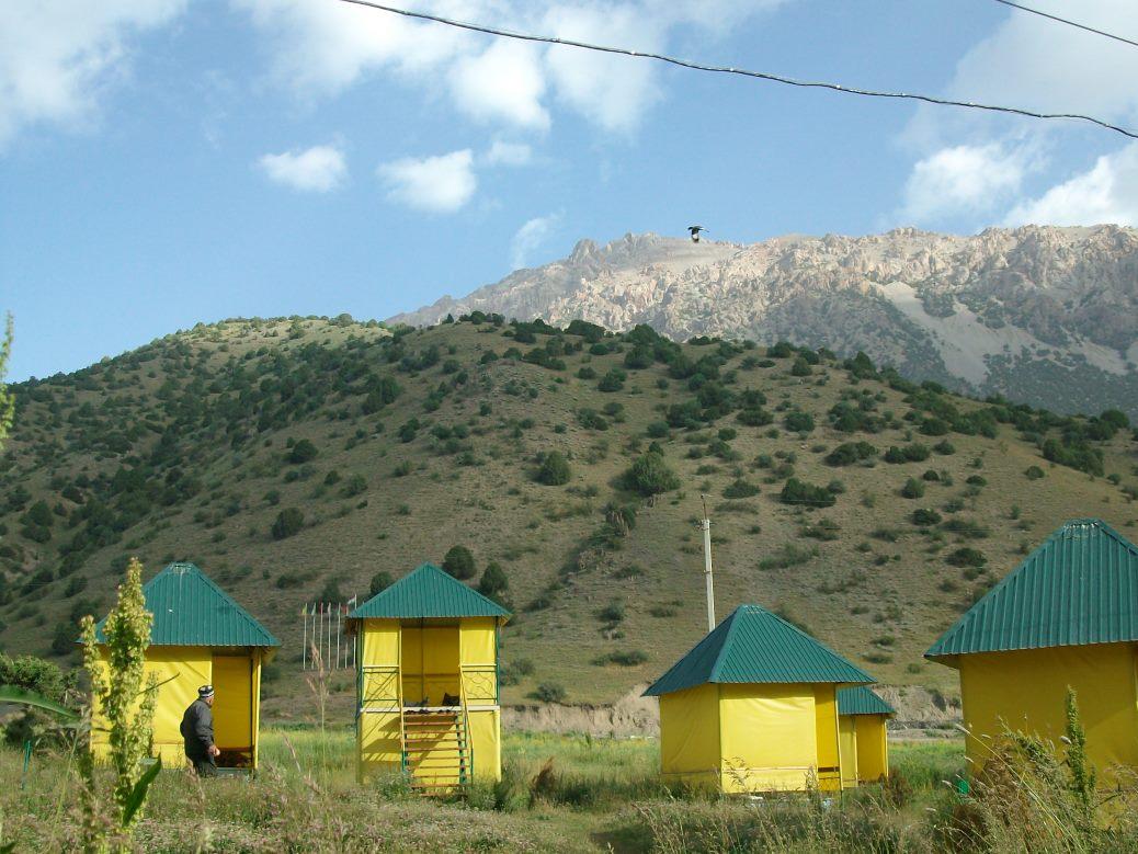 Raststation aus Jurten in Tadschikistan