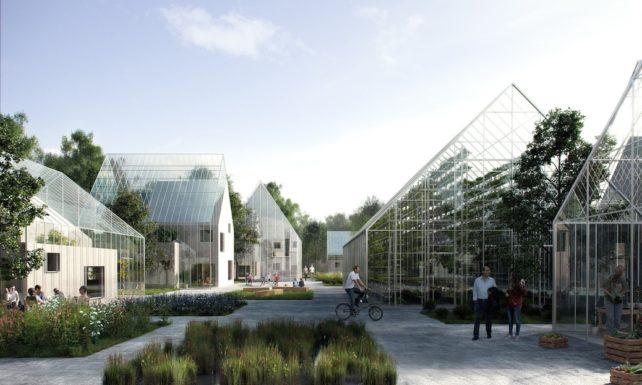 Designentwurf von der Außenansicht der ReGen Villages