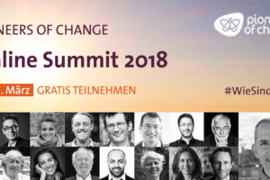 Banner für den Pioneers of Change Online Summit 2018