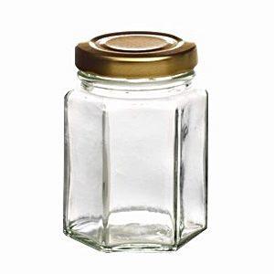 Bild eines sechseckigen Einmachglases