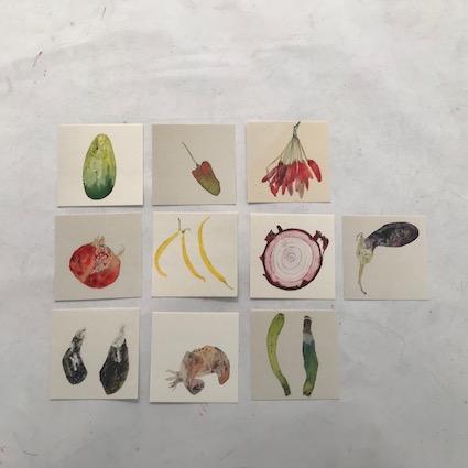 Foto von 10 Zeichnungen als Teil des Incentive Pakets